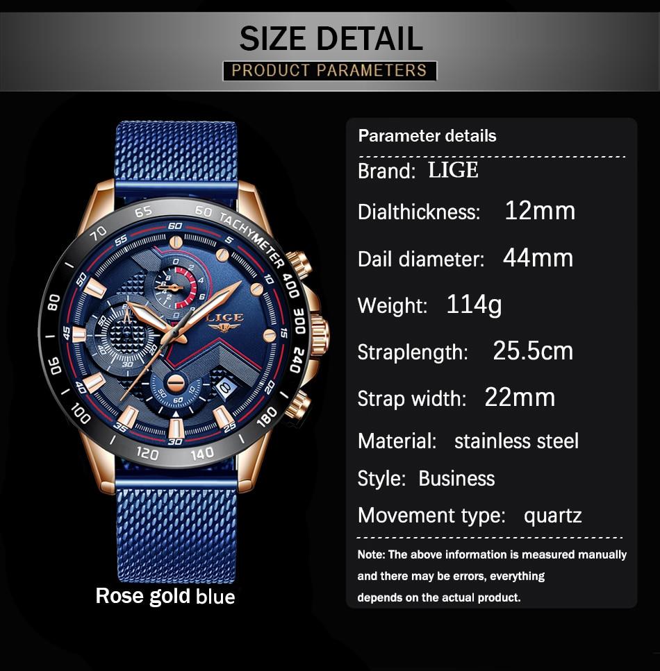 HTB1n0wpOmzqK1RjSZPcq6zTepXay LIGE Men Watches Top Brand Luxury Stainless Steel Blue Waterproof Quartz Watch Men Fashion Chronograph Male Sport Military Watch