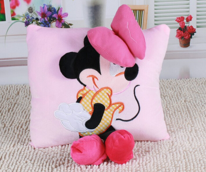 2015 1pcs 1538cm Christmas gift plush Mickey mouse lovers pillow plush toy sofa cushions and car kids lovely toys freeshipping 40cm new lovely mickey mouse and minnie mouse plush toys stuffed cartoon figure dolls kids christmas birthday gift