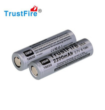 10pcs/lot TrustFire IMR 18650 2200mah 35A 3.7V High Drain Rechargeable Battery Li-ion Batteries