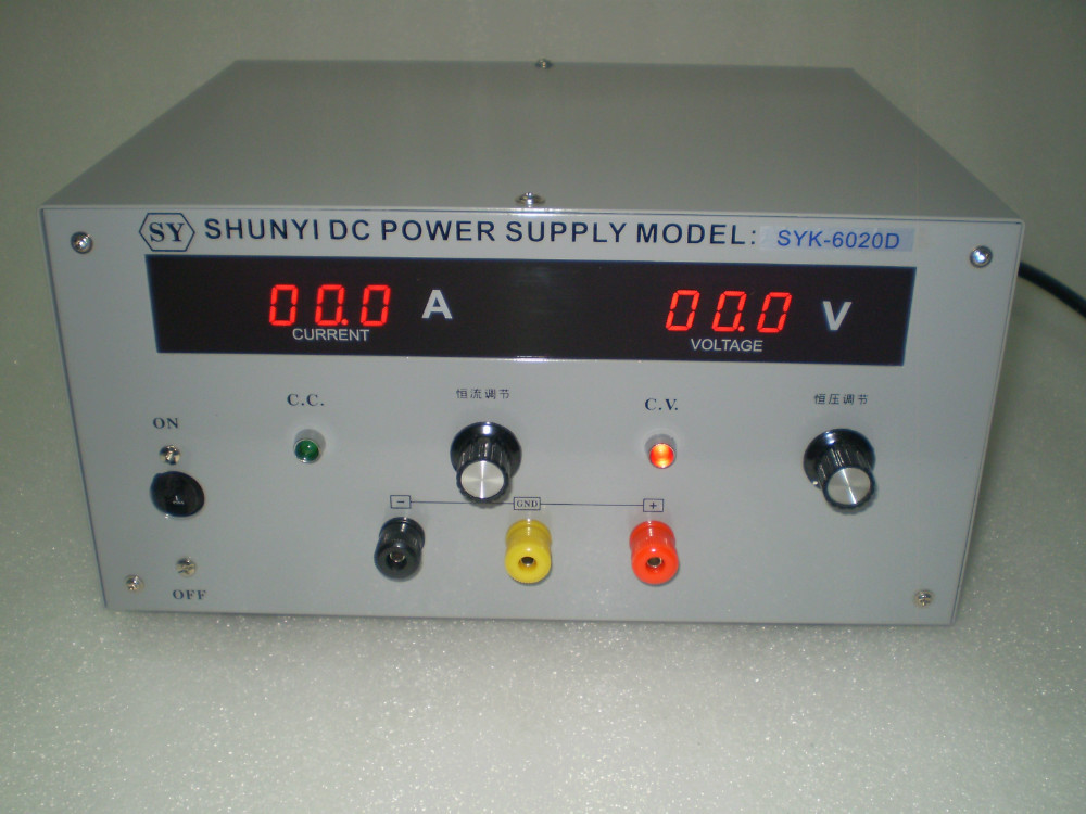 купить  SYK3020D DC  power supply output of 0-30V,0-20A adjustable Experimental power supply of high precision DC voltage regulator  в интернет-магазине