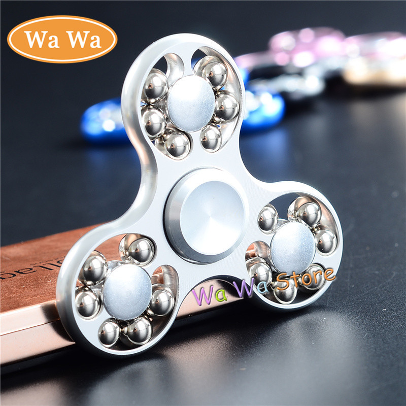 5 Colors Toy Hand Spinner Metal Tri Fidget Spinner Anti Stress New Year Gift Toys Gift