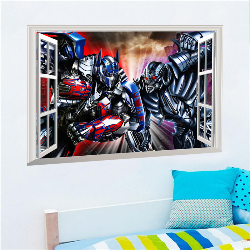 3D Effect Transformers Megatron Optimus Prime Wall Stickers For Kids Rooms  Decor Cartoon Movie Wall Decals. Popular Transformers Optimus Prime Buy Cheap Transformers Optimus