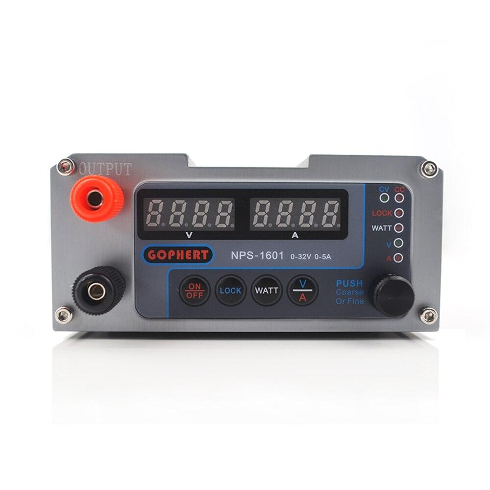 NEW NPS-1601 CPS-3205 3205II Upgraded Version Mini Adjustable Digital DC Power Supply OVP/OCP/OTP WATT 0.001A 0.01V 32V 30V 5A-3