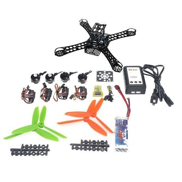 Mini Ejes RC Quadcopter Sin Montar Kit de Control de Vuelo de Código Abierto + MT16-S 2300KV Motor + ESC 12A + 6045 de la Hélice F14889-C