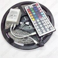 5 м/компл. 60 светодиодов/m 3528 12 V цветных (RGB) светодиодных лент IP65 Водонепроницаемый + 44-клавишный пульт ИК-пульт дистанционного управления све...