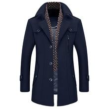 New Design Parka Men 2017 Winter Cloths Men's Fashion Brand Long Plus Cotton Coat Thick Wo