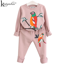 Toddler Girl Clothes Spring Children Clothing Sets Kids Sport Suits Girls Clothes Sets Long Sleeve Tracksuits For Girls Costumes cheap Regular KEAIYOUHUO O-Neck Pullover Full Polyester Cotton Coat Fits true to size take your normal size Fashion Cartoon Cotton + Polyester