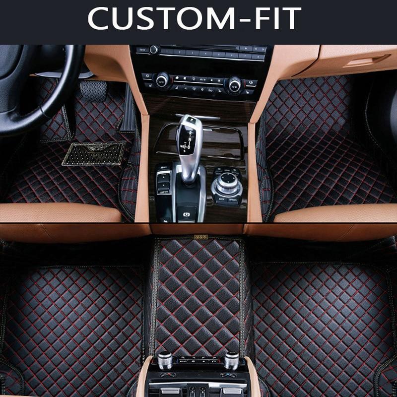 все цены на  Custom fit car floor mats for Ford Edge Escape Kuga Explorer Fiesta Focus Fusion Mondeo Ecosport car styling carpet liner  онлайн