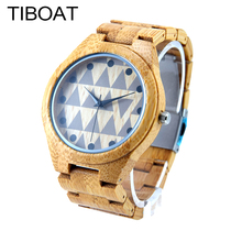 TIBOAT M11Z Women's Fashion Watch Full Bamboo Simple Design Dial Japan Quartz Luxury Watches As Best Gift For Ladies Relojio