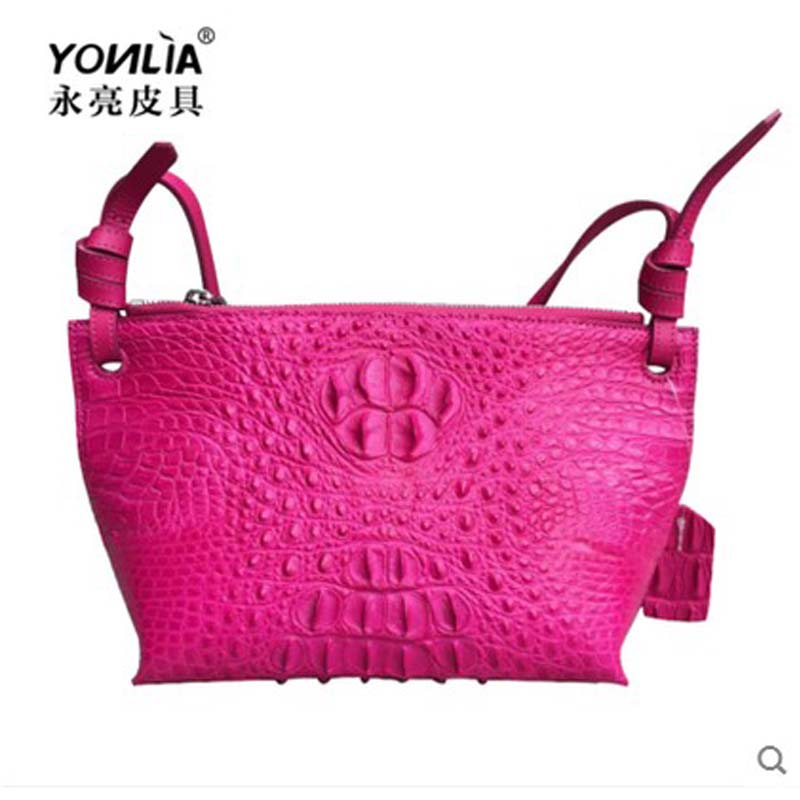 yongliang The new old lady crocodile dumplings fashion leather Crossbody Handbag authentic the little old lady in saint tropez