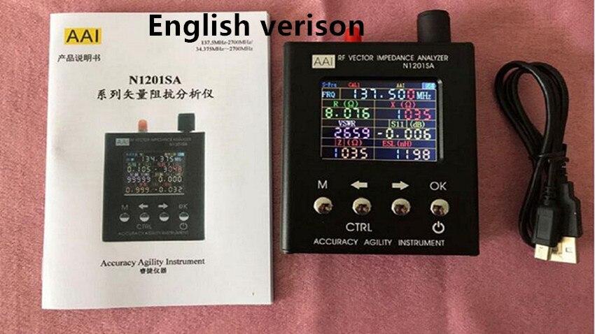 N1201SA + 35 MHZ-2.7 GHz N1201SA 140 MHz-2.7 GHz UV Vectoriels RF Impédance ANT SWR Antenne analyseur Testeur