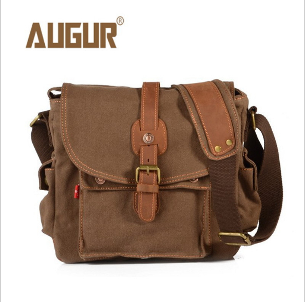 AUGUR shoulder bag canvas shoulder bag Men canvas diagonal handbag retro Messenger Bags bag augur men s messenger bag multifunction canvas leather crossbody bag men military army vintage large shoulder bag travel bags