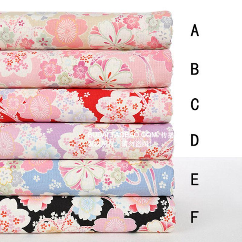 Free shipping oriental cherry cotton fabric,Imitation linen cotton textile,Print design 45cm*55cm wedding decoration 026020004