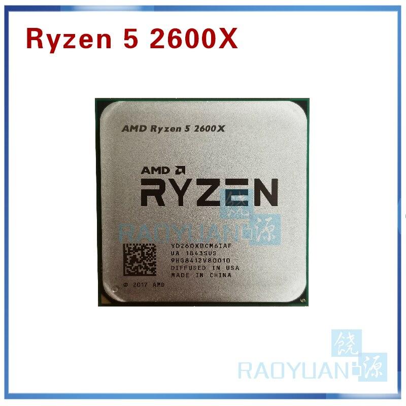 AMD Ryzen 5 2600X R5 2600X 3.6 GHz Six-Core Twelve-Thread 95W CPU Processor YD260XBCM6IAF Socket AM4