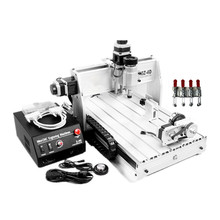 CNC Router CNC 3040Z-DQ 4 Axis engraving machine with 4th rotary axis for 3d cnc цена в Москве и Питере
