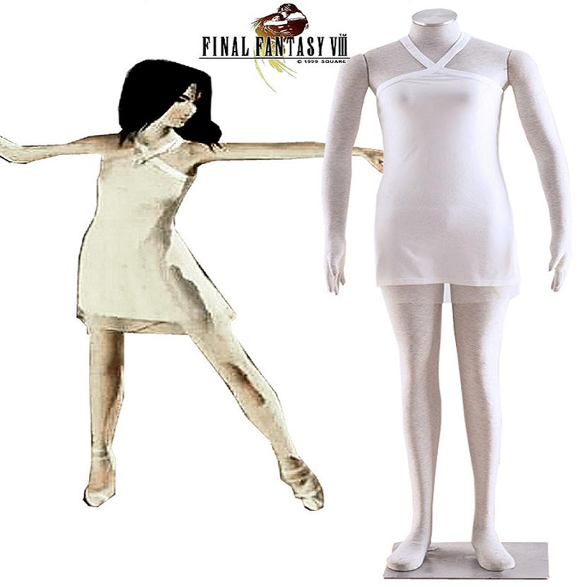 High Q Unisex Final Fantasy Rinoa Heartilly Cosplay Costumes Skirts Dresses