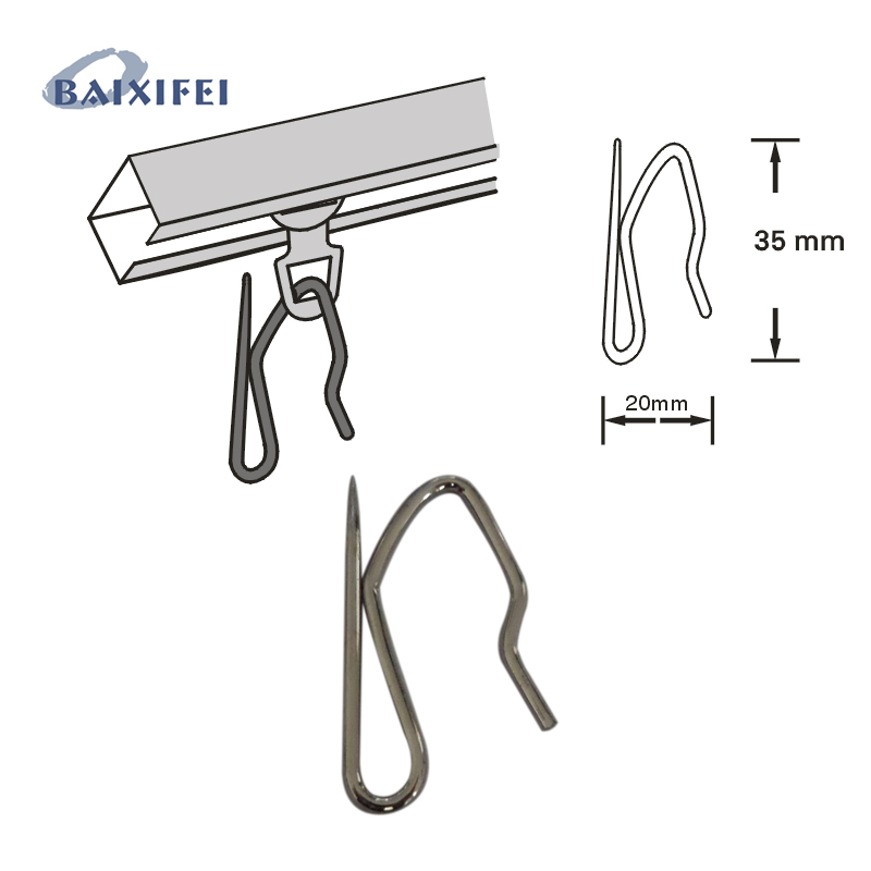 100 Pcs Curtain hooks Stainless Steel curtains holder S type Iron Hooks , Curtain Accessories Holdbacks for Window Decoration