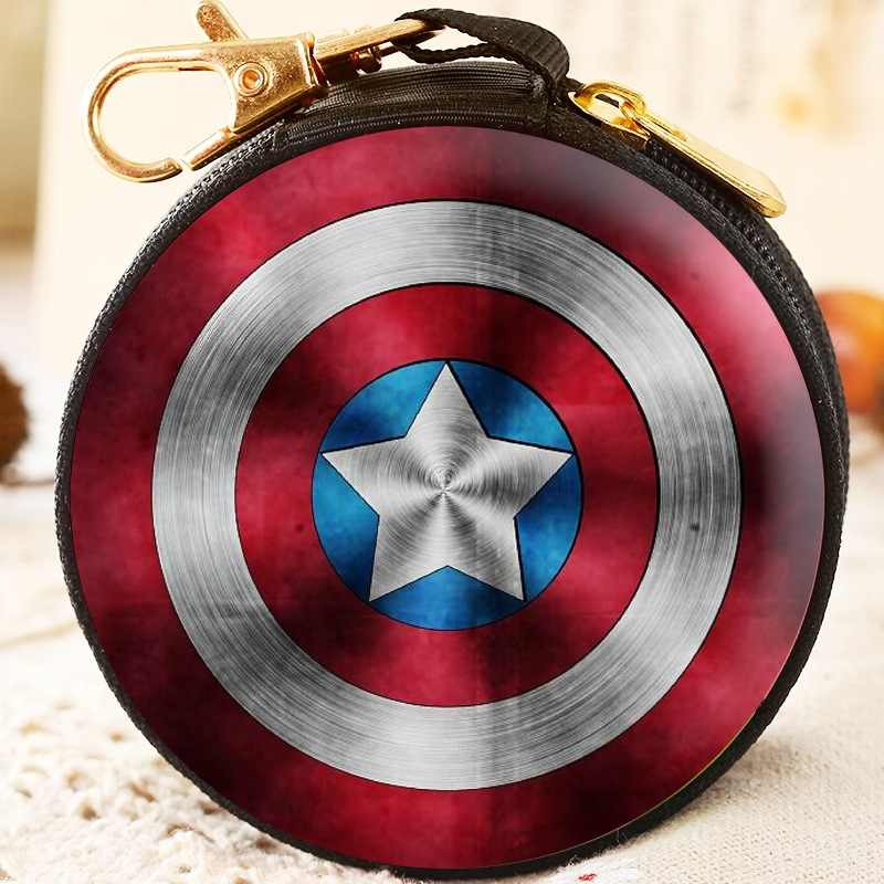 Avengers Cartoon Coin Purse Iron Man Hulk Captain America Boys Key Case Wallet Children Thanos Headset Bag Coin Bag For Marvel