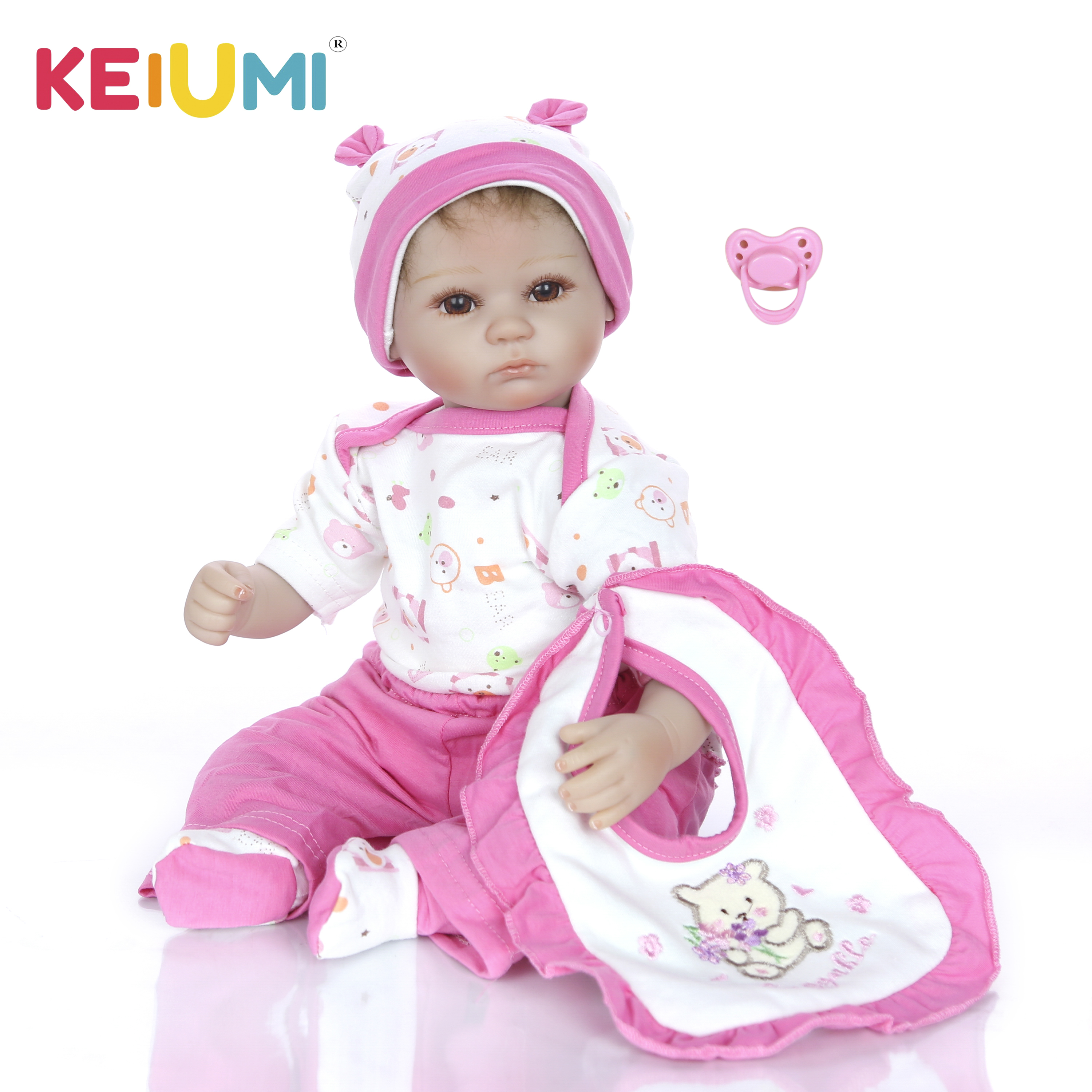 KEIUMI 17 Inch Reborn Baby Dolls For Sale Lifelike Silicone So Truly Girl or Boy Twins