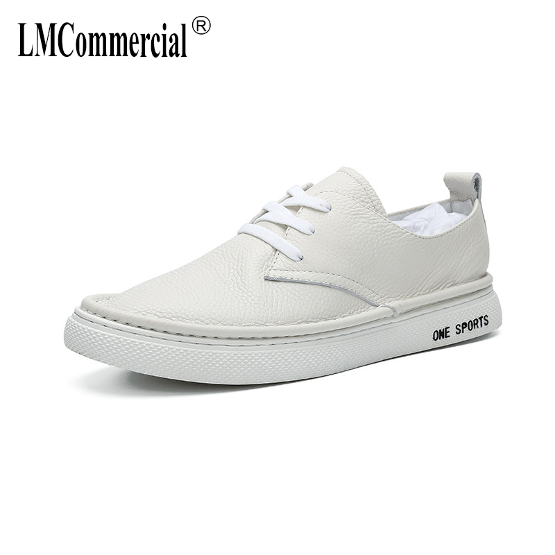 Spring Summer Genuine leather lazy casual shoes mens casual natural leather loafers all match cowhide breathable sneaker fashion in Men 39 s Casual Shoes from Shoes