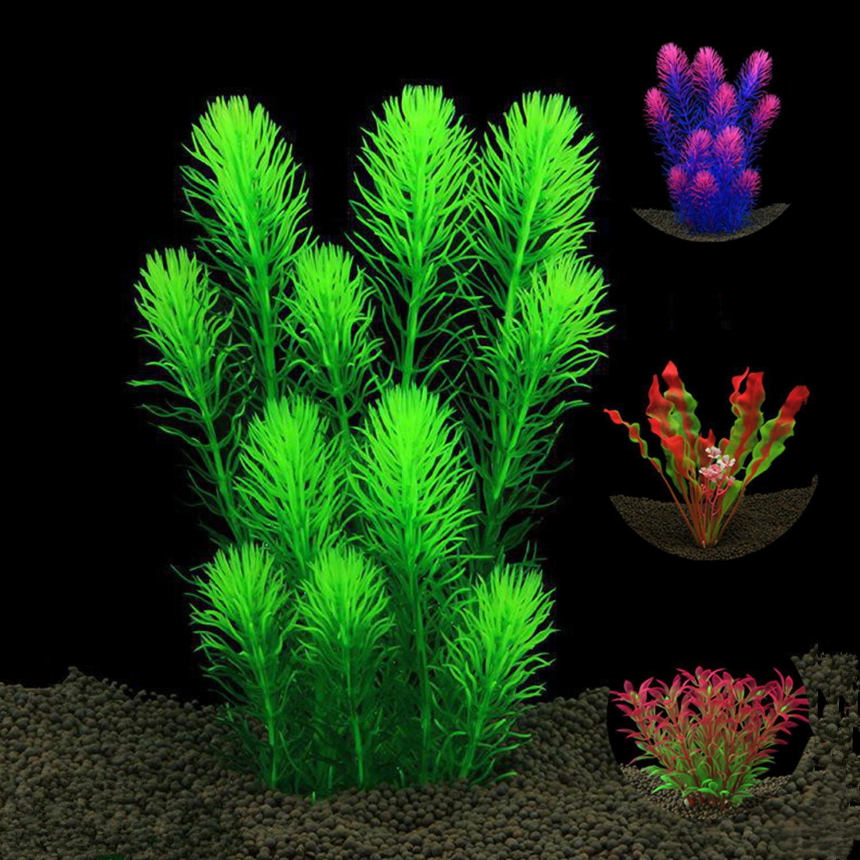 Новое пластиковое искусственное растение, украшение для аквариума, декоративное растение для воды, украшение для травы, 11-27 см, на выбор, 12 видов стилей