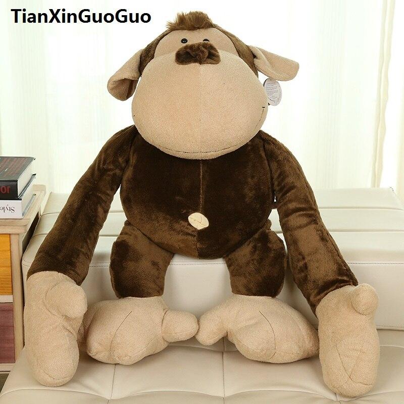 large 80cm lovely orangutan plush toy light brown monkey soft doll throw pillow birthday gift w2643 stuffed toy large 150cm floral rabbit plush toy soft throw pillow birthday gift w2969