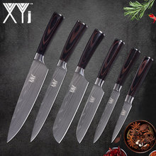 XYj Stainless Steel Knife 3.5 5 7 8 inch Beauty Pattern High Carbon Blade Knives Fish Meat Vegetable Fruit Cooking Accessories(China)