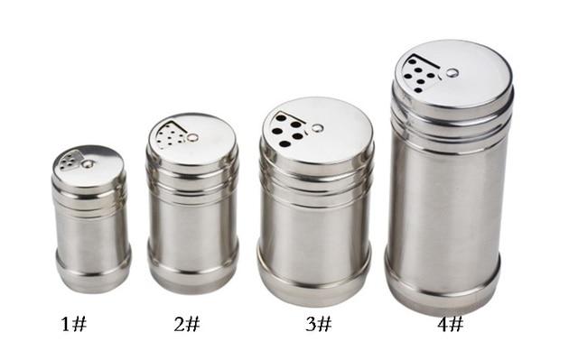 304 Stainless Steel Salt Pepper Shaker Set Odor Free Spice Cruet