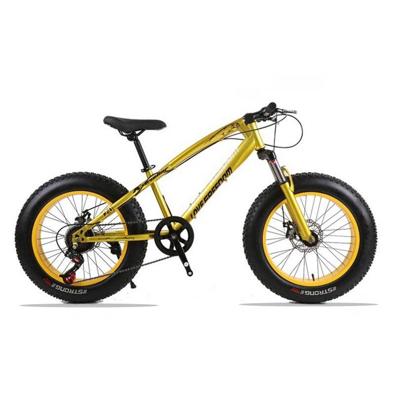 20x4.0 горный велосипед жира велосипед Велосипедный Спорт дорожный мотоцикл 7/21 скорость спереди и сзади механические дисковые тормоза жестки...