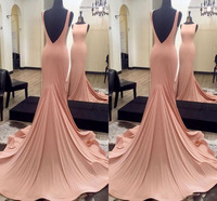 023ab6a21 ... Trem Da Varredura Vestido Do Tapete Vermelho de Baile. 2019 Sweet  Mermaid Evening Dresses Jewel Neck Sleeveless Sexy V Back Sweep Train Red  Carpet Dress