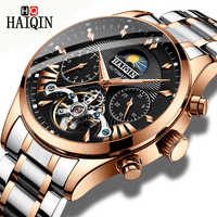 HAIQIN luxury Automatic Mechanical Men Watch classic Business Watch men Tourbillon Waterproof Male Wristwatch Relogio Masculino