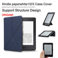 Top Quality New Arrival Magnetic Leather Case Cover For Amazon Kindle Paperwhite 2015 6inch Ereader Stand