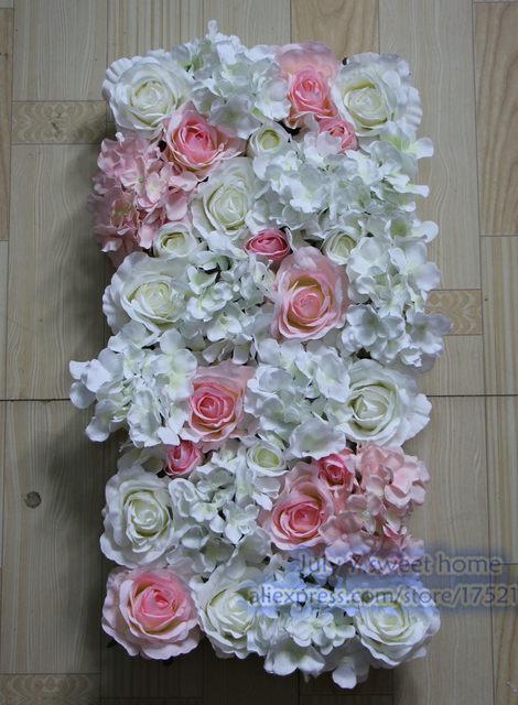 White Light Pink 10pcs Lot Artificial Silk Rose Flower Wall Wedding Background Lawn Pillar Frames Door Market Decoration