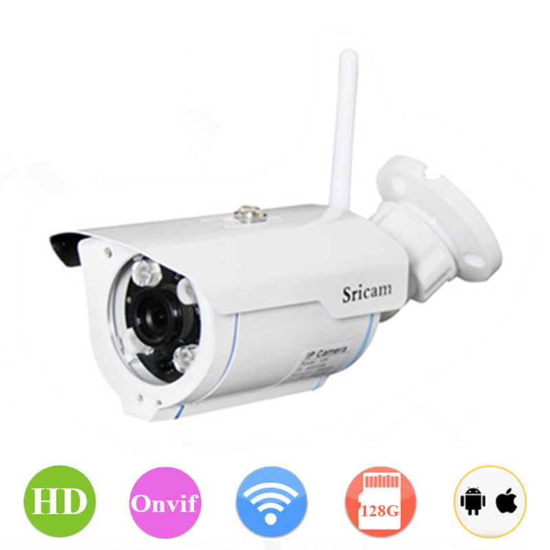 Фотография Sricam IP66 waterproof H.264 wifi outdoor camera P2P IR Infrared LED night vision security camera ip wireless network camera