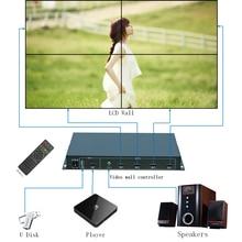 2×2 видео настенный контроллер для 4 ЖК-телевизора, ТВ настенный процессор для 4 блока USB + HDMI с полностью цифровой обработкой Chann TuuKoo