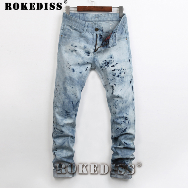 2016 Brand Men Baggy Jeans Big Size Mens Hip Hop Jeans Long Loose Fashion Skateboard Relaxed Fit Jeans Mens Harem Pants C104