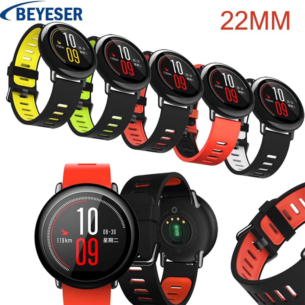 Bracelet en silicone 22mm pour Xiaomi Huami Amazfit bracelet de montre pour Xiaomi Huami Amazfit remplacement bandes de bracelet de montre sport intelligentBracelet en silicone 22mm pour Xiaomi Huami Amazfit bracelet de montre pour Xiaomi Huami Amazfit remplacement bandes de bracelet de montre sport intelligent