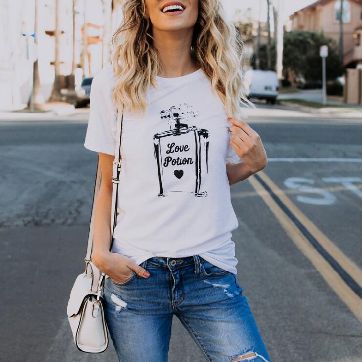 women t-shirt  perfume bottle fashion top tee casual printed graphic female tee tshirt tops tees shirt T-Shirt Ladies c22