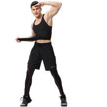 Костюм спортивный мужской повседневный жилет брюки шорты спортивная