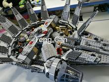 1381 unids Star Wars 05007 Millennium Falcon Figura marvel minifigures bloques de construcción de Juguetes Niños brinquedos Juguete legeod