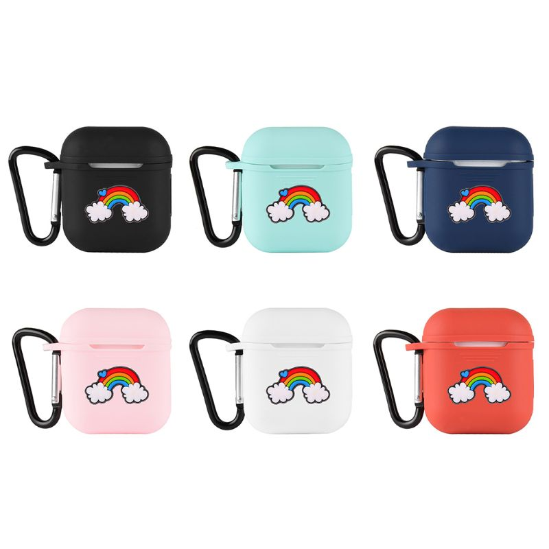 Cartoon Rainbow Soft Silicone Shockproof Cover With