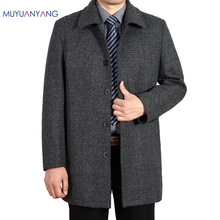 Wool Coat Men Business Casual Long Sections Woolen Coats Male Clothing Brand Men's Jackets Single Breasted Overcoat 4XL 3XL(China)