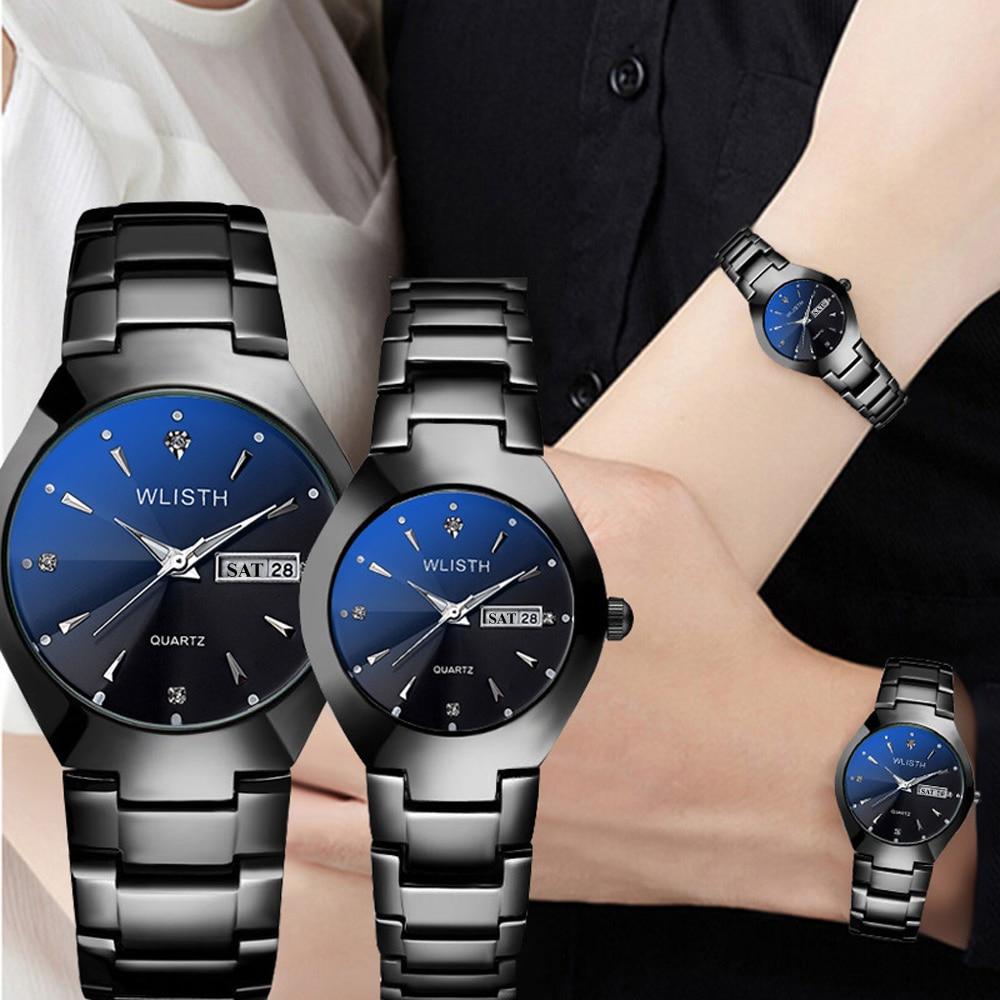 Couple Watches Top Brand Luxury Diamond Business Wrist Watch For Men Hour WLISTH Quartz Women Watches Dress Stylish Men's Watch