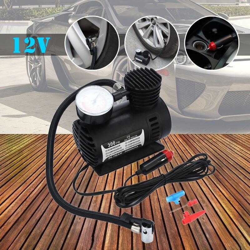 compressor 2019 12V Portable Mini Air Compressor 300 PSI Car Van Bike Tyre Inflator
