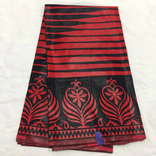 Black&Red african wax printed cotton fabric ankara for clothes making LSCW-34