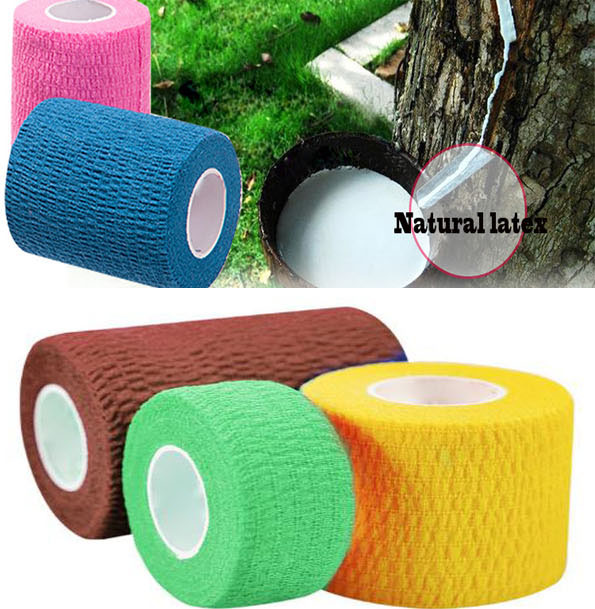 Waterproof Elastic Self Adhesive Medical Bandage Gauze Tape Nonwoven Cohesive First Aid Kit For Sport Ankle Finger Muscle Care