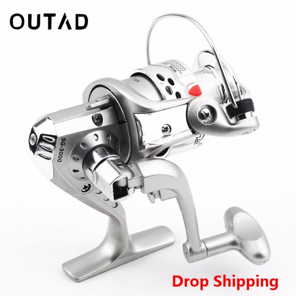 OUTAD SG3000 5.1: 1 6BB golyóscsapágy bal / jobb halászati tekercs cserélhető összecsukható fogantyú halászati spinning kerékhal tekercs