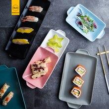 RUX WORKSHOP 6 Colors Choose European Solid Color Simple Ceramic Plate Dinner dessert salad steak dish Breakfast plate Tableware
