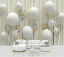 beibehang Custom large wall murals 3D background three-dimensional ball dandelion decorative painting 3d wallpaper