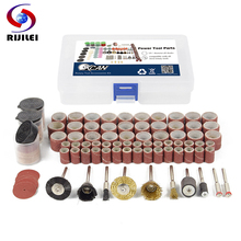 RIJILEI 160PCS BIT SET SUIT MINI DRILL ROTARY TOOL FIT DREMEL Grinding,Carving,Polishing tool sets,grinder head,Sanding disc